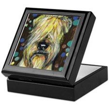 Portrait of a wheatie brown Keepsake Box