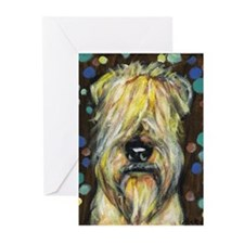 Portrait of a wheatie brown Greeting Cards (Pk of
