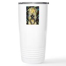 Portrait of a wheatie brown Travel Mug