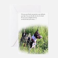 Basenji sympathy Greeting Card