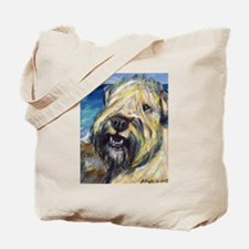 Laughing wheatie portrait Tote Bag