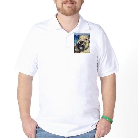 Laughing wheatie portrait Golf Shirt