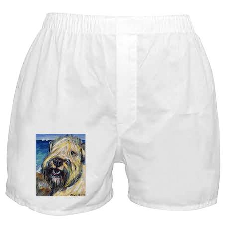 Laughing wheatie portrait Boxer Shorts