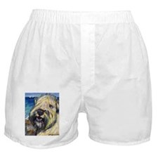 Laughing wheatie portrait Boxer Shorts