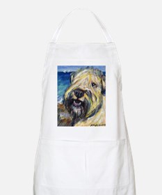 Laughing wheatie portrait BBQ Apron
