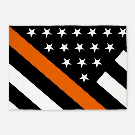 U.S. Flag: The Thin Orange Line 5'x7'Area Rug
