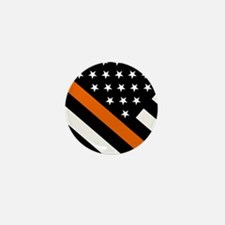 U.S. Flag: The Thin Orange Line Mini Button