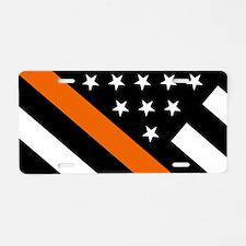 U.S. Flag: The Thin Orange Aluminum License Plate