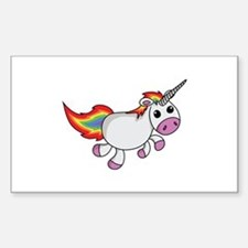Cute Cartoon Unicorn Decal