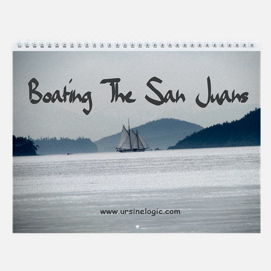 Boating The San Juans Wall Calendar