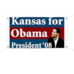 Kansas for Obama campaign banner