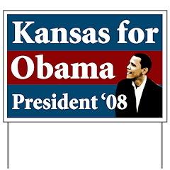 Kansas for Obama lawn sign