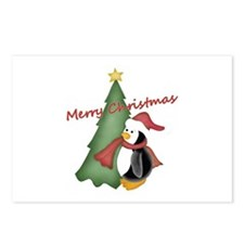 Merry Christmas Tree Penguin Postcards (Package of