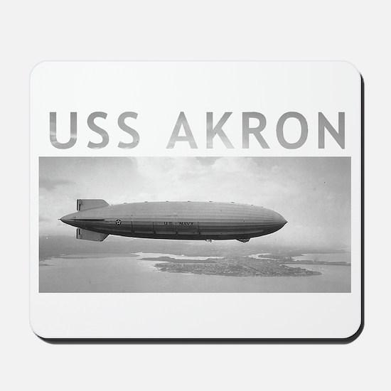 USS Akron Airship Mousepad