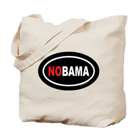 NOBAMA Oval Tote Bag