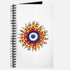 Fiery Flame Eyeball Tattoo Journal