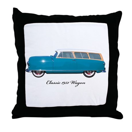 1951 Nash Wagon Throw Pillow