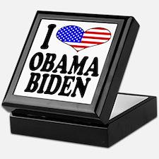 I Love Obama/Biden Keepsake Box