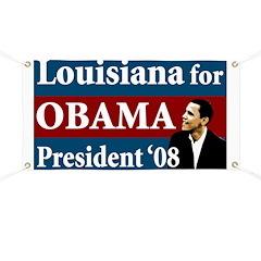 Louisiana for Obama campaign banner