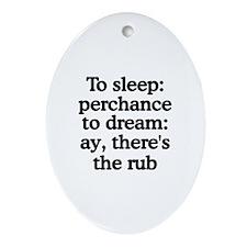 The Rub Oval Ornament
