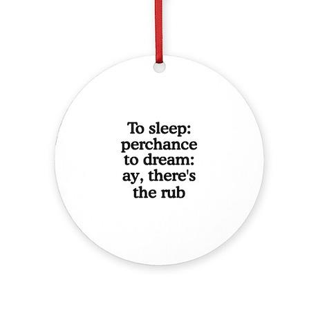 The Rub Ornament (Round)