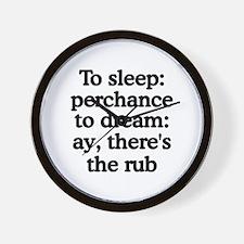 The Rub Wall Clock