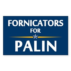 Fornicators for Palin Rectangle Sticker 10 pk)