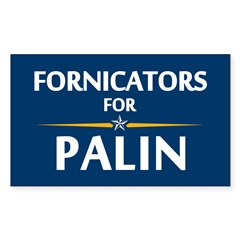 Fornicators for Palin Rectangle Decal