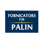 Fornicators for Palin Rectangle Magnet (10 pack)
