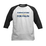 Fornicators for Palin Kids Baseball Jersey