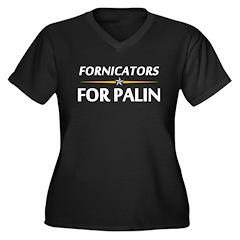 Fornicators for Palin Women's Plus Size V-Neck Dar