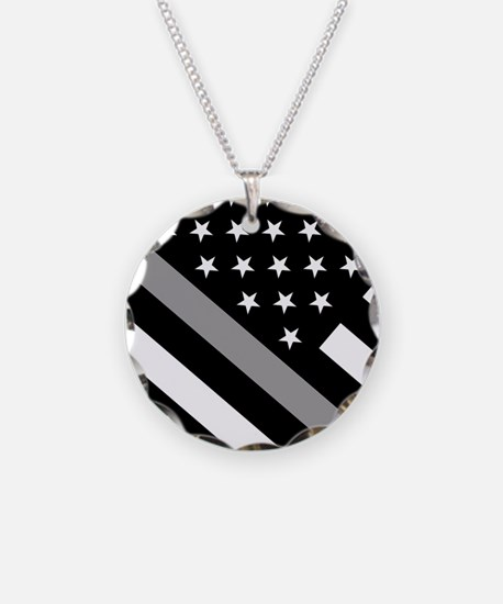 U.S. Flag: The Thin Grey Lin Necklace