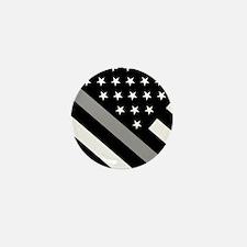 U.S. Flag: The Thin Grey Line Mini Button