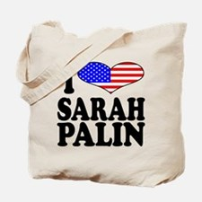 I Love Sarah Palin Tote Bag