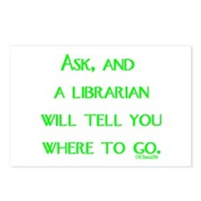 Ask, and a librarian will tel Postcards (Package o