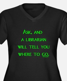 Ask, and a librarian will tel Women's Plus Size V-