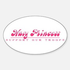 Navy Princess - Girly Style Oval Decal