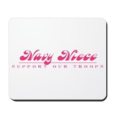Navy Niece - Girly Style Mousepad