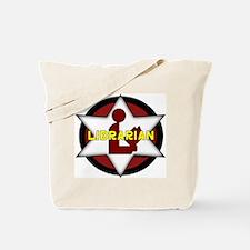 Librarian Badge Tote Bag