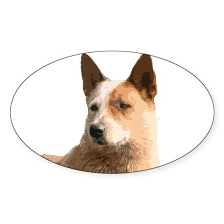 Cattle Dog Sticker (Oval)