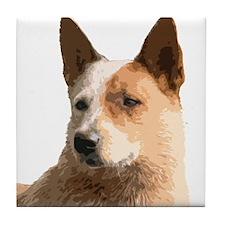 Cattle Dog Tile Coaster
