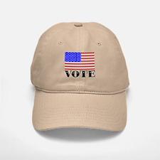 Vote American Flag 2 Baseball Baseball Cap