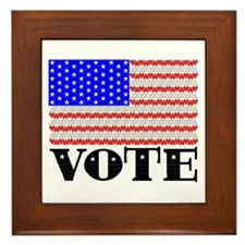 Vote American Flag 2 Framed Tile