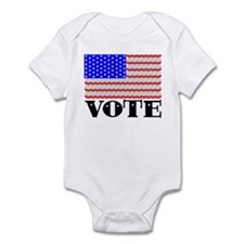 Vote American Flag 2 Infant Bodysuit