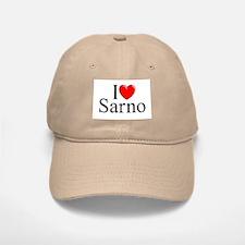 """I Love (Heart) Sarno"" Baseball Baseball Cap"