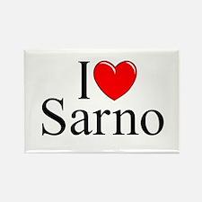 """I Love (Heart) Sarno"" Rectangle Magnet"