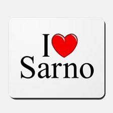 """I Love (Heart) Sarno"" Mousepad"