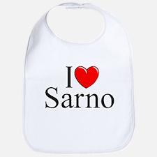 """I Love (Heart) Sarno"" Bib"