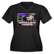 Ridin' Bitch! Women's Plus Size V-Neck Dark T-Shir