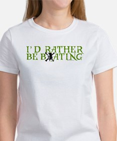 I'd Rather Be Boating Women's T-Shirt